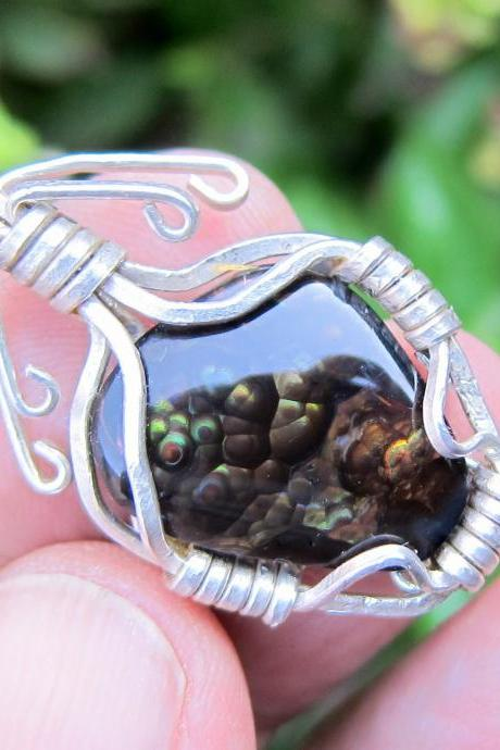 agate pendat mexican fire agate agate jewelry