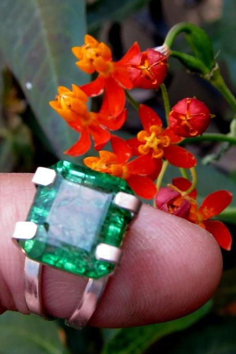 emerald ring natural emerald colombian emerald